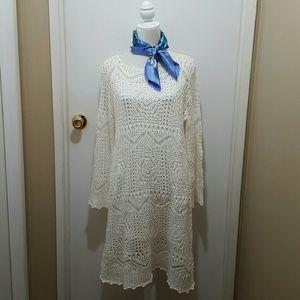 H&M crocheted dress, size large EUC